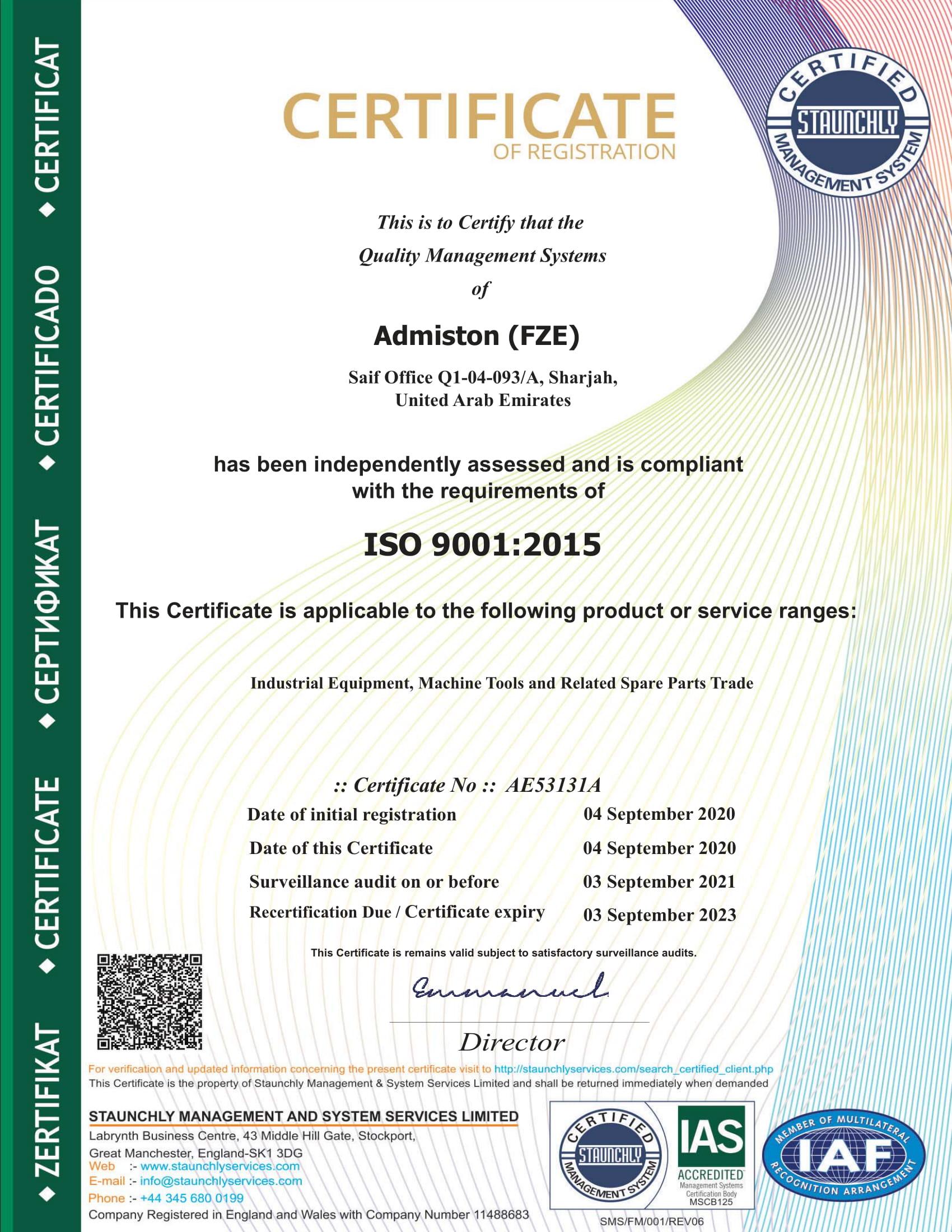 AE53131A Admiston (FZE) 9K SM..-1